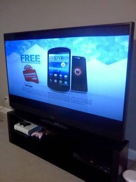 Mitsubishi 73, 1080p, DLP TV with Stand