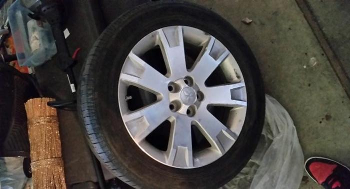 mitsubishi outlander rims and tires