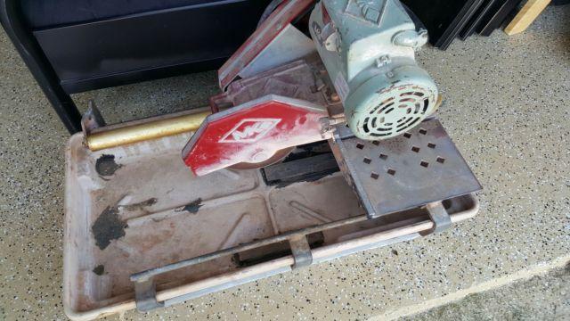 MK101 ConcreteBrick  Tile Wet Saw