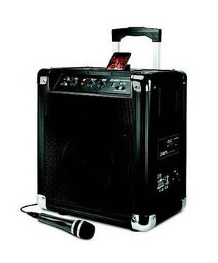 Mobile DJ Amplifier Style Boom Box AMFM PA System with iPod Dock NEW