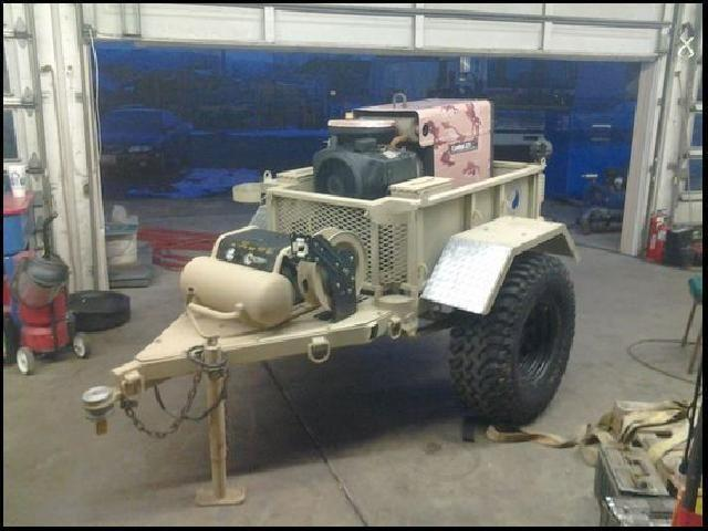 Mobile Military Hummer All Terrain Welder  Compressor
