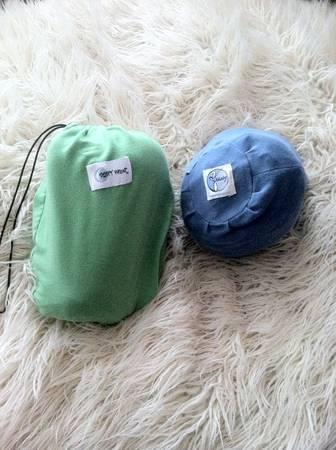 Moby Wrap blue or Sleepy Wrap green baby carrier - $25