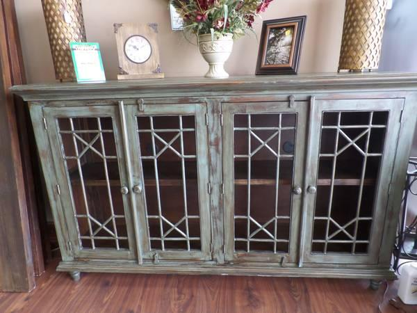 Model home gorgeous distressed old world console tv for Model home furniture for sale