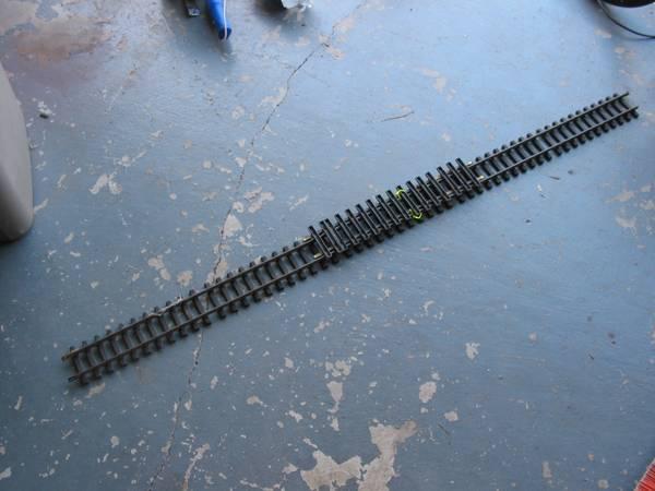 Model Railroad G guage 60 straight track - $15