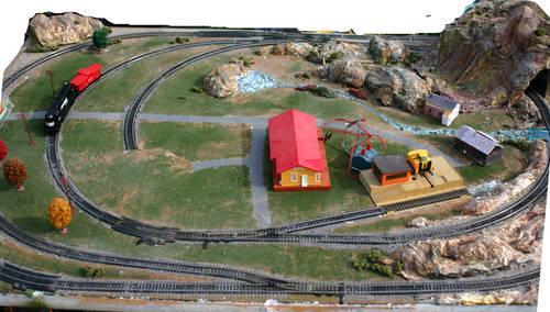 Cars For Sale Memphis Tn >> Model Train HO scale railroad 4'x6' board with rails