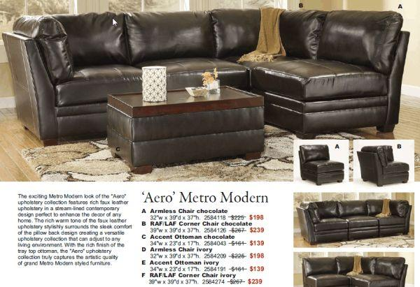 Modern Faux Leather Sectional Sutherlands Home Design