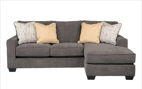 Modern grey sofa chaise sectional with reversible chaise for Gray sofas for sale