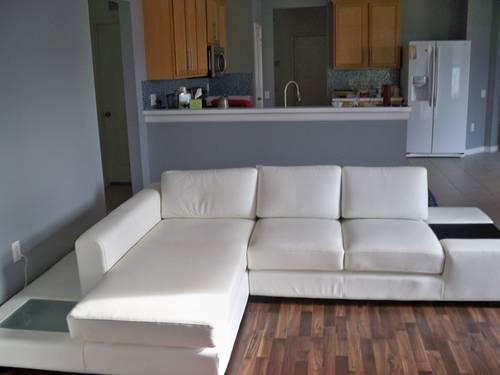 modern white compact leather sectional sofa for sale in valrico florida classified. Black Bedroom Furniture Sets. Home Design Ideas