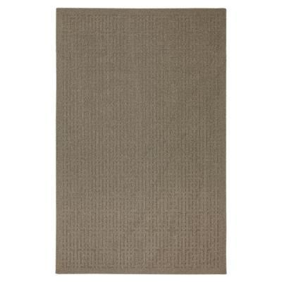 Mohawk Quincy Keywork Taupe 1 ft. 8 in. x 2 ft. 10 in.