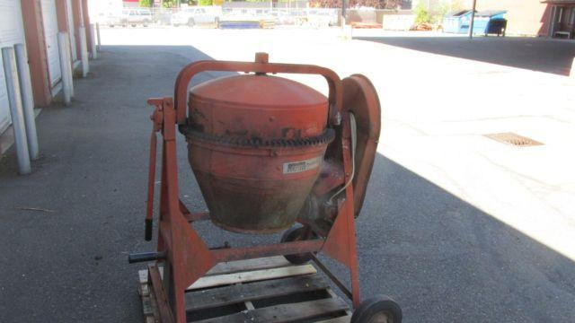 Montgomery Ward Power Kraft 34 HP Electric Cement Mixer Used