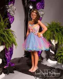 MORI LEE RAINBOW CORSET PROM/PAGEANT DRESS - $200