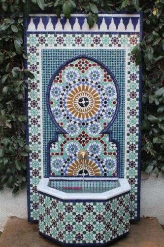 Moroccan Mosaic Tile Fountain For Sale In Los Angeles