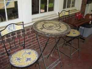 mosaic breakfast table&chairs - $125