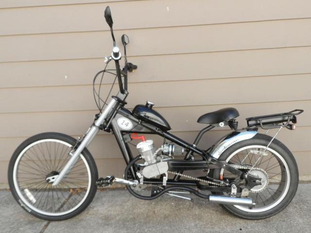 ae300323b84 Motorized Bike Schwinn Stingray OCC Chopper w 66cc Screaming Roo ...