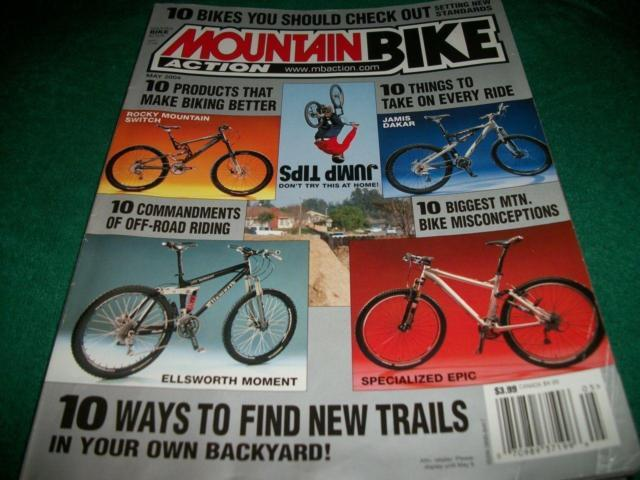 Mountain Bike Action ,May 2004 ,Specialized Epic,
