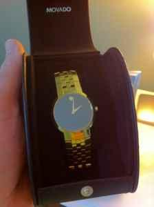 Movado Faceto gold watch-beautiful condition - $450