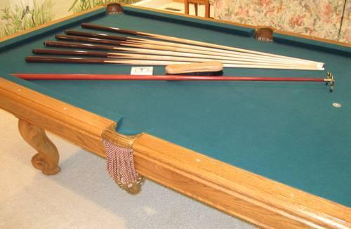 Moving Sale Brunswick Billiards Manchester Ii Oak Pool