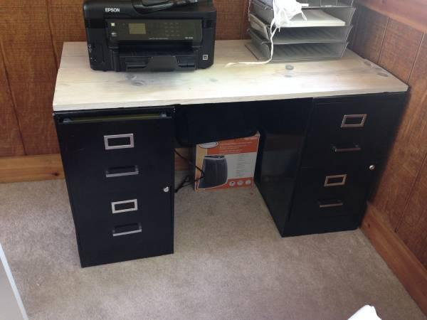 MOVING SALE   2 Black Filing Cabinet/Desk   $40
