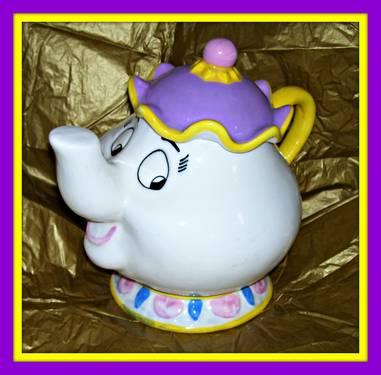 Mr Potts Teapot Cookie Jar Disney Beauty And The Beast For