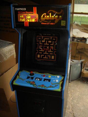 Ms Pac Man Pacman Galaga Upright Video Arcade Game Coin Or