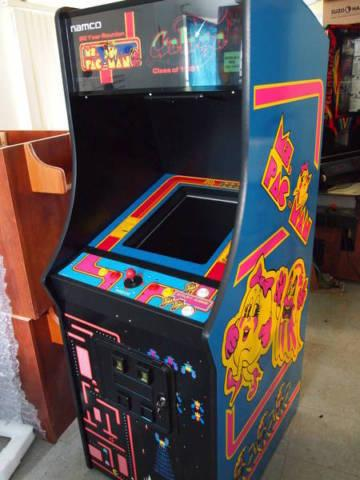 Ms Pacman Galaga Pac man upright video arcade game