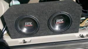 Mtx audio 10 subs box and mtx road thunder rt202 amp ogden mtx audio 10 publicscrutiny Gallery