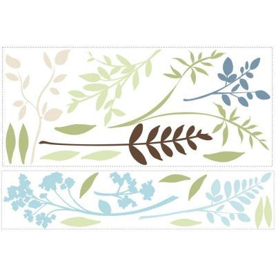 Multi Branches Peel and Stick 23-Piece Wall Decals