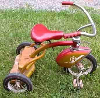 Murray 5 Tricycle, Padded Glitter Seat, Ball Bearing,