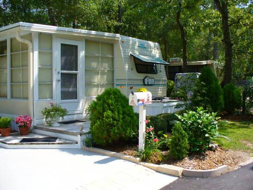 Myrtle Beach Travel Park Rv With Sunroom On Permanent