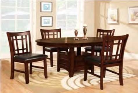 Mystic Espresso Premier Dining Table W Leaf 4 Chair Set For Sale In Auburn Indiana