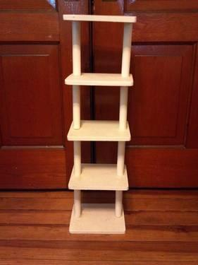 Narrow Open Style Wooden Bookshelf And Or Knickknack