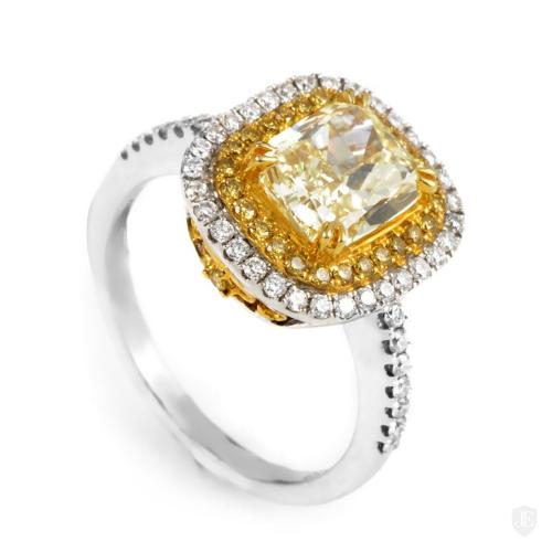 Natalie K 18K Multi-Gold Light Fancy Yellow Diamond