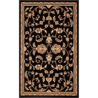Natco Annora Black 22 in. x 36 in. Accent Rug