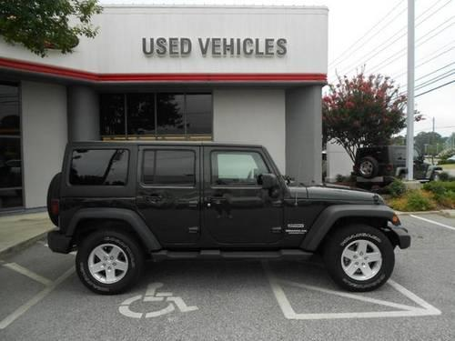 natural green 2011 jeep wrangler unlimited sport 4wd 4 door hardtop ca for sale in greensboro. Black Bedroom Furniture Sets. Home Design Ideas