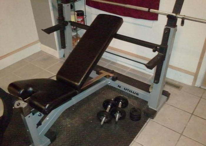 Nautilus Bench Press W Spotter Arms York For Sale In