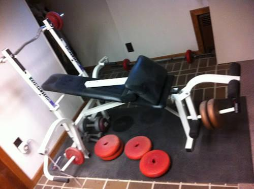 Nautilus Home Gym Nt907 Bench And Weights For Sale In Teaneck New Jersey Classified