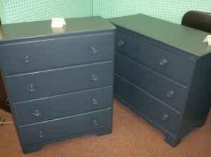 Navy Blue Dresser U0026 Chest   $129 (Rejuvenated