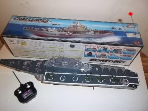 Navy Fleet RC Aircraft Carrier - Radio Controlled Ship - New