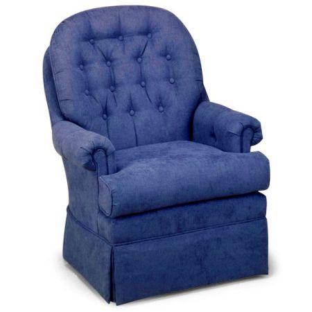 Navy Swivel Rocker Tub Chair For Sale In Pasadena