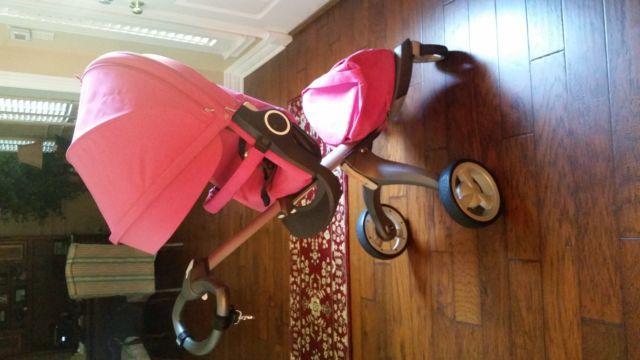 Nearly New Stokke Xplory Stroller- Hot Pink