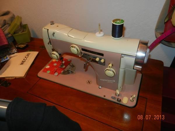 Necchi Sewing Machine Antique Ice Cream Machine And More