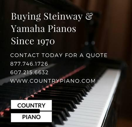 Need to sell that Steinway or Yamaha Piano? Call us