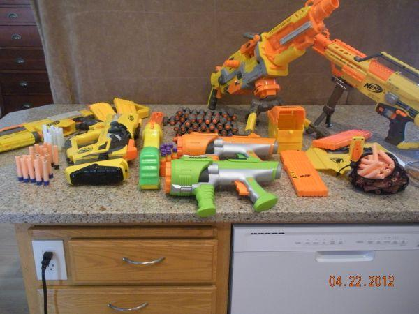 Nerf guns lot - $80 (West Salem)