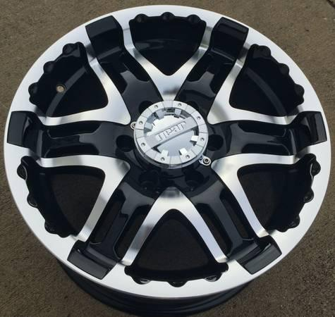 new 17 18 inch black polished 6 lug wheels rims with tires 6x5 5 for sale in austin texas. Black Bedroom Furniture Sets. Home Design Ideas