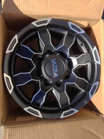17 Inch Rims For Sale >> NEW 17 & 18 INCH BLACK POLISHED 8 LUG WHEELS RIMS WITH TIRES 8X6.5 - for Sale in Austin, Texas ...