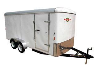 New 2014 7 X 16 Enclosed Cargo Trailer With Ramp Door Now