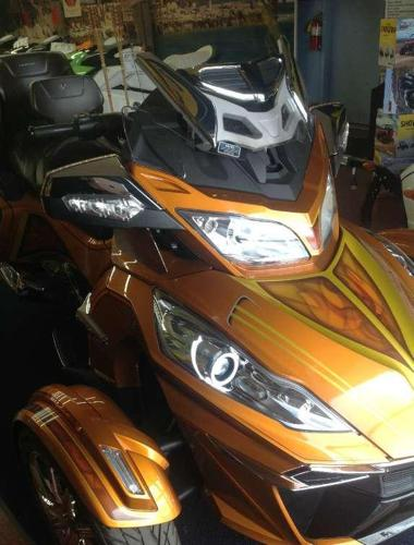 new 2014 can am spyder rt limited with custom paint led lights more only at jim potts motor. Black Bedroom Furniture Sets. Home Design Ideas