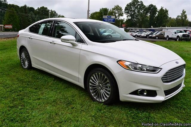 new 2014 ford fusion 39 titanium 39 awd we finance rhinebeck for sale in rhinebeck new york. Black Bedroom Furniture Sets. Home Design Ideas