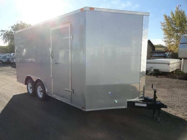 NEW 2014 Lark Cargo Trailer TALL 8.5 x 16 2 Axle V-Nose