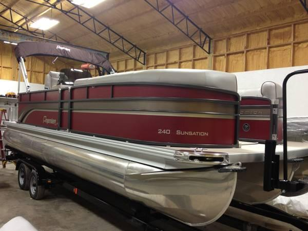 New 2014 Premier 240 Sunsation Tritoon 200hp Loaded 20